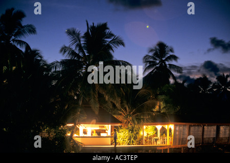 Kuramathi Island Maldives Waterfront Restaurant - Stockfoto