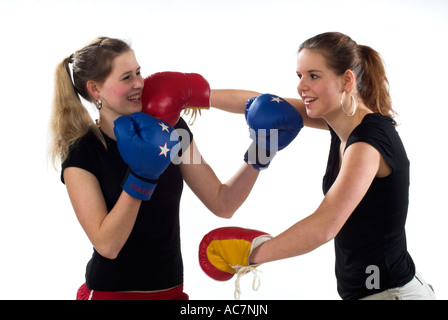 junge maedchen boxen young girls boxing stock photo royalty free image 13068719 alamy. Black Bedroom Furniture Sets. Home Design Ideas