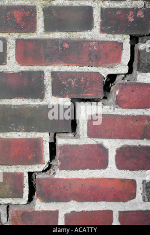 Crack in a brick wall - Stock Photo