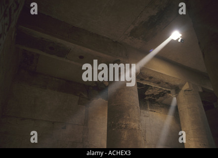 Interior Of Ancient Egyptian Temple Of Abydos - Stock Photo