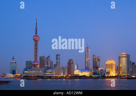 Pudong Skyline, Shanghai, China - Stock Photo