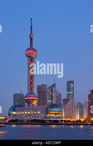 Skyline von Pudong, Shanghai, China - Stockfoto