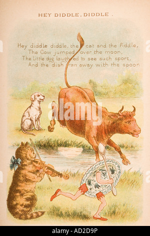'hey diddle diddle the cat and the fiddle' from
