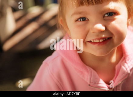 Face of a toddler - Stock Photo