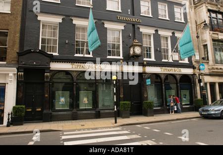 Street facade of a building, Dover Street, London, England - Stock Photo