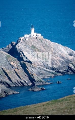 Muckle Flugga lighthouse at Hermaness Unst Shetland Islands Robert Louis Stevensons inspiration for his book Treasure - Stock Photo