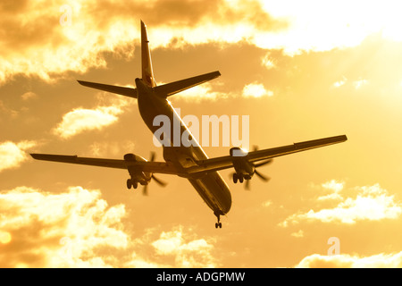 Regional airliner silhouette - Stock Photo