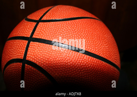 A Basketball close up - Stock Photo