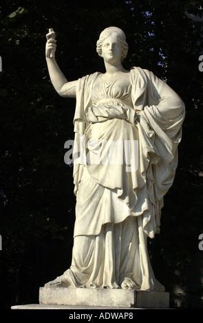 France Paris Statue Of The Goddess Athena Stock Photo