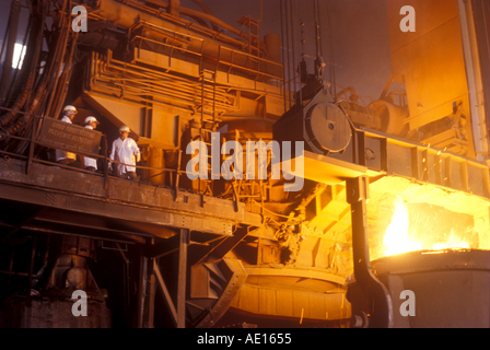 Steel Furnace at SAIL Steel Authority of India Ltd plant at Burnpur West Bengal India - Stockfoto
