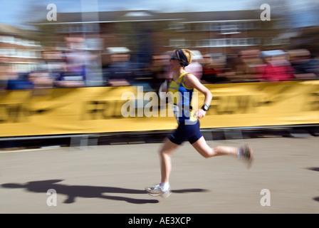 PICTURE CREDIT DOUG BLANE running the Nike Milton Keynes half marathon City of Milton Keynes - Stock Photo