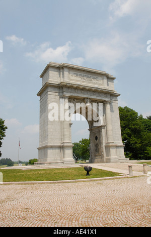 United States Memorial Arch Valley Forge Philadelphia Pennsylvania Stock Photo Royalty Free