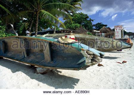 Beach scene, Negril, Jamaica - Stock Photo