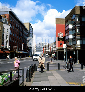 A street scene and sign for the Corporation of Londons Golden Lane Estate on Baltic Street West EC1 London England - Stock Photo