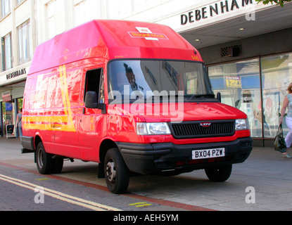 parcel force royal mail van making a delivery collection in stock photo royalty free image. Black Bedroom Furniture Sets. Home Design Ideas