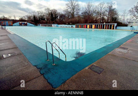 Tooting Bec Lido South London Uk Is The Largest Open Air Pool In Stock Photo Royalty Free