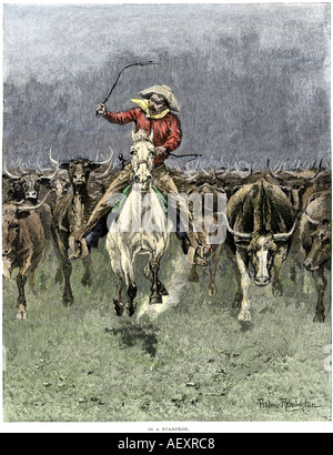 A Texas Cowboy 1800s Stock Photo Royalty Free Image