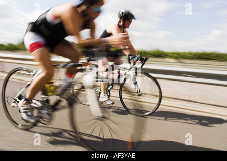 The London Triathlon Bike Race - Stock Photo