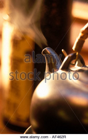 Steaming Teapot - Stock Photo