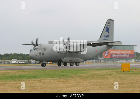 Military transport aircraft Italy Air Force Alenia C-27J Spartan - Stock Photo