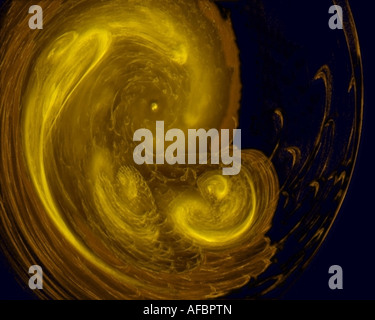 Abstract fractal image resembling an embryo - Stock Photo