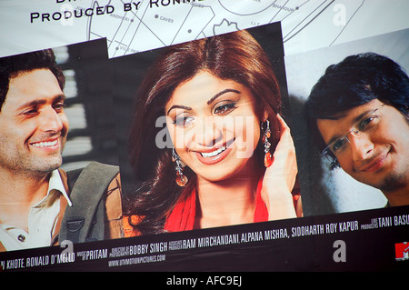 Poster for Bollywood film 'Life in a Metro' featuring Shilpa Shetty, India - Stock Photo