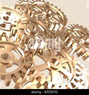 Shiny Gears - Stock Photo