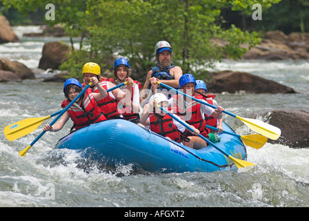 Rafting on the Ocoee River Tennessee USA - Stock Photo