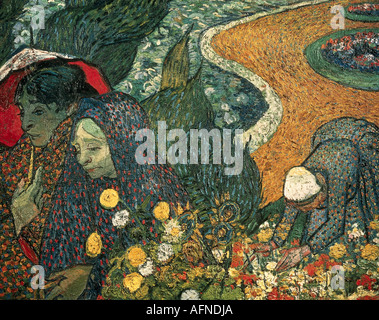 'fine arts, Gogh, Vincent van, (1853 - 1890), painting, 'Memories of the Garden at Etten or Ladies of Arles', November - Stock Photo