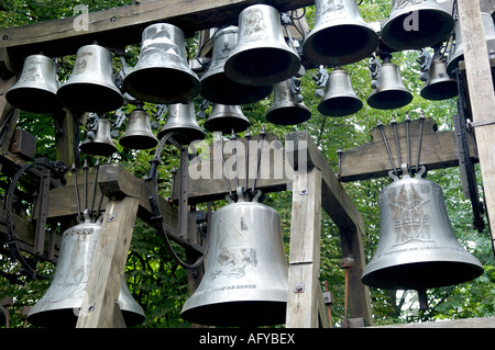 Chuurch bells at Notre Dame de Grace in Honfleur in Normandy France - Stock Photo