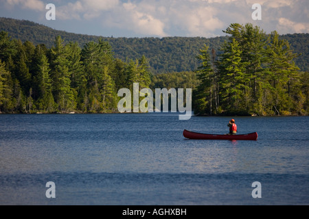 Canoeing on prong pond near moosehead lake in maine owned for Stocked fishing ponds near me
