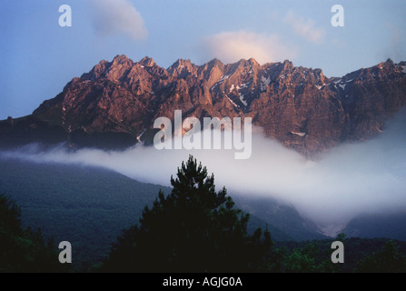 Mountains of the Gran Sasso range in the one of Italy s National Parks in the Abruzzo region - Stock Photo