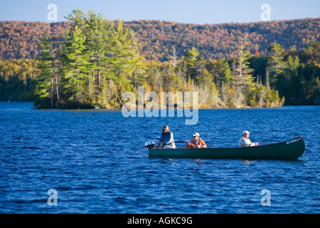 The shoreline on prong pond maine usa stock photo for Stocked fishing ponds near me