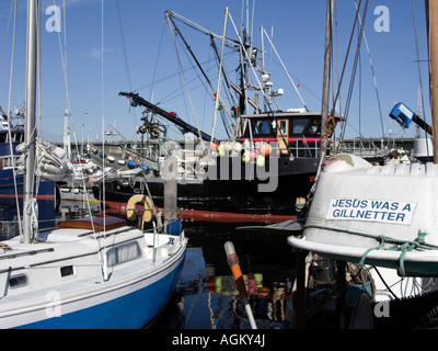 Commercial fishing boats docked at fishermen 39 s terminal at for Fishing in seattle washington