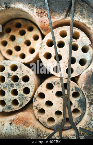 Concrete pipes, close-up, full frame - Stock Photo