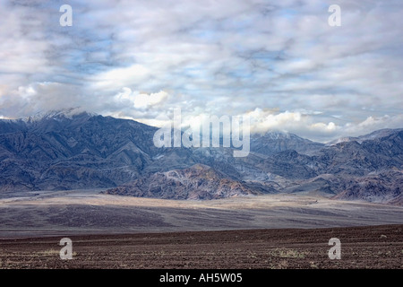 Storm over the mountains Death Valley California - Stock Photo