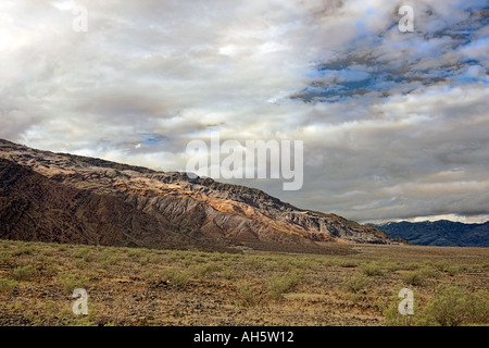 clouds over Death Valley California - Stock Photo