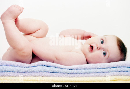 Baby on towels 008 - Stockfoto