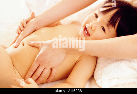 Baby massage 012 - Stockfoto