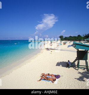 DOCTOR CAVES BEACH MONTEGO BAY JAMAICA - Stock Photo