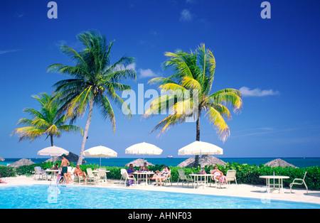 Swimming Pool On Grand Bahama Island The Bahamas Stock Photo 26689301 Alamy