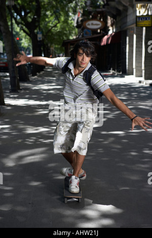 Young man on skateboard. - Stock Photo