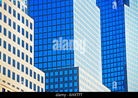 Low angle view of high rise buildings - Stock Photo
