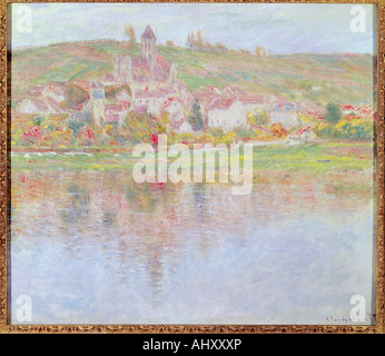 'fine arts, Monet, Claude (1840 - 1926), painting, 'Vetheuil', circa 1901, oil on canvas, von der Heydt Museum, - Stock Photo