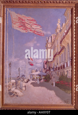 'fine arts, Monet, Claude (1840 - 1926), painting, 'Hotel Roches Noirs, Trouville', 1870, oil on canvas, Musee dœ - Stock Photo