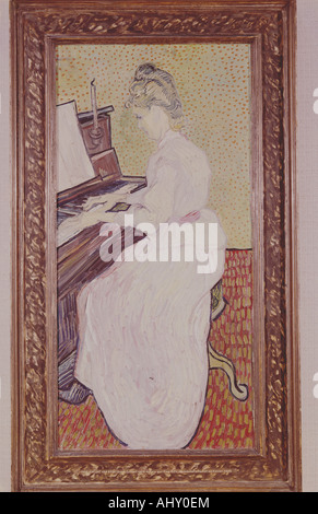 'fine arts, Gogh, Vincent van, (1853 - 1890), painting, 'mademoiselle on the piano', 1890, oil on canvas, museum - Stock Photo