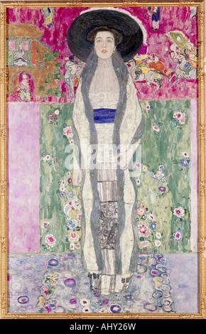 'fine arts, Klimt, Gustav, (1862 - 1918), painting, 'Bildnis Adele Bloch-Bauer II', ('portrait Adele Bloch-Bauer - Stock Photo