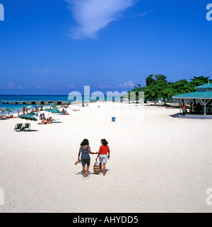 DR CAVES BEACH MONTEGO BAY JAMAICA - Stock Photo