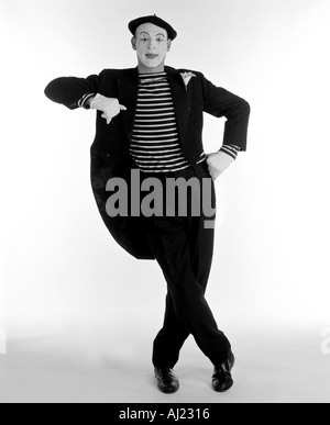 A MIME ARTIST - Stock Photo
