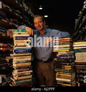 USA Washington Amazon com President Jeff Bezos with stacks ...